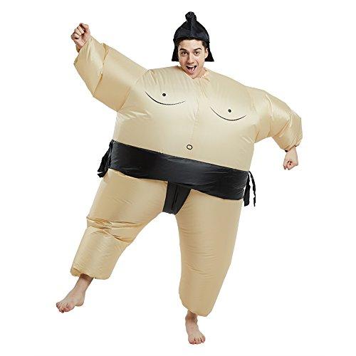 Kostüm für Erwachsene aufblasbar Reit mich Reitkostüm Schickes Kostüm (Sumo) (Sumo-halloween-kostüm)