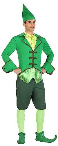 Atosa 22893 - Kobold männliches Kostüm, Größe M-L, grün (Kobold Kostüme Für Erwachsene)