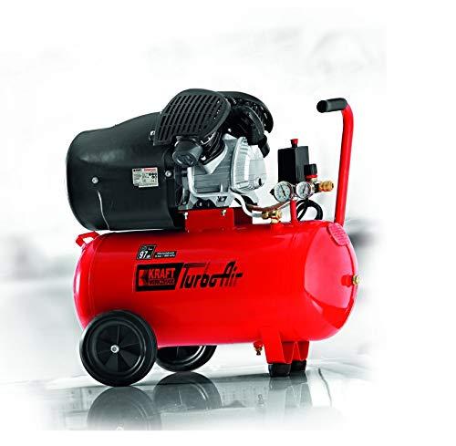 Kraft Werkzeuge Profi-Doppelzylinder TurboAir-V-Kompressor 50 L
