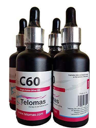 4 x 50 ml C60 Fullerene Olive Oil, Lipo Fullerenes, C60 Oliven Öl, 67 mg/100 ml, Bucky Balls 99.95{16fc6d5fbb31e8508327ddbfc6adaae07aa3e1d8ebbd392d7e431cc557f4c151} ...