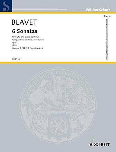 6 Sonatas: Band 2. op. 2/4-6. Flöte und Basso continuo. (Edition Schott) (Sechs Sonaten Für Zwei Flöten)