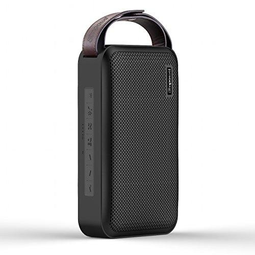 Simpowel V10 – Bluetooth Lautsprecher 4.0 Tiefer Bass 20W Tragbar Drahtloser Lautsprecher Mit TI 5 Serie DSP und Einbauen Micro SD MP3 plaer Mikrofon Bis zu 10 Stunden Spielzeit (Schwarz) - 2