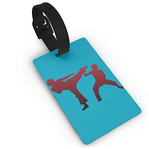 Union Jack Pistolen (Ewtretr Gepäckanhänger for Travel Luggage Tags with Genuine Hand Strap Karate Sport Travel Suitcase Bag Tag Identify Label)