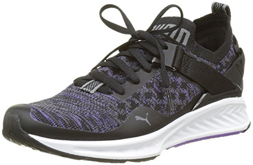 Puma Ignite Evoknit Lo Wn's, Zapatillas de Running para Mujer, Negro (Puma Black-Electric Purple-Quiet Shade 01), 38 EU