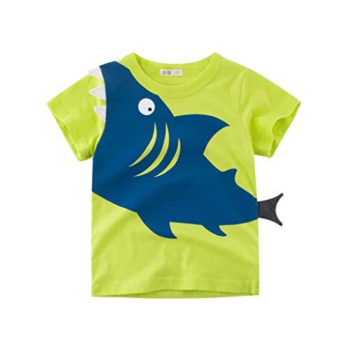 (Yanhoo-Kinder Baby Top, Kinder Baby Mädchen Jungen Cartoon Shark Print T-Shirt T Tops Kleidung Kurzarm Baby-Shirt für Jungen und Mädchen Cartoon-Muster Mini täglich Kurze Ärmel)