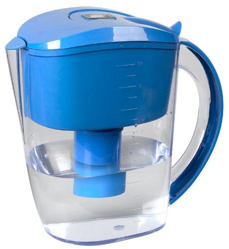 Jarra De Agua Alcalina Dieta Alcalina Con Inicador Digital De Recambio De Filtro.Dos Filtros. Azul