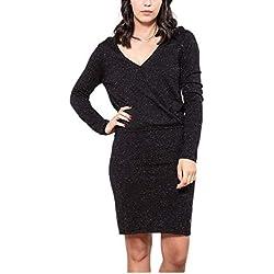 Le Temps des Cerises FSIENNA000000ML Robe Femme, per Pack, Noir (Black 0001), (Taille Fabricant:S)