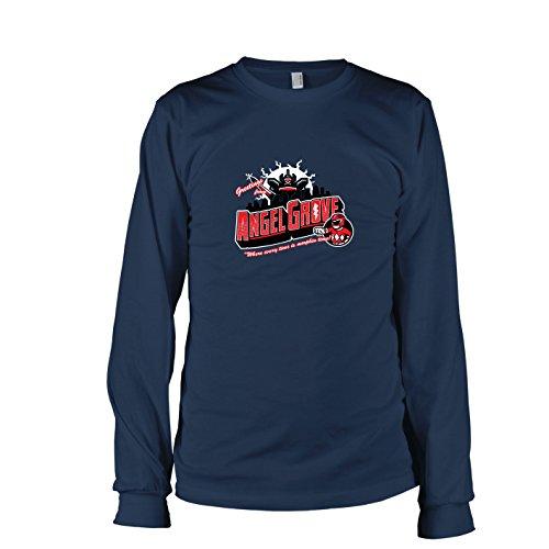 TEXLAB - Greetings from Angel Grove Red - Herren Langarm T-Shirt, Größe XXL, dunkelblau (Blaues Power Ranger Megaforce Kostüm)