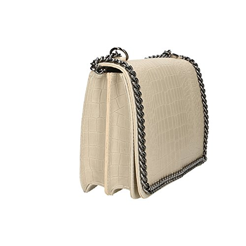 Chicca Borse Clutch Borsetta Borsa a Spalla Stampa Cocco da Donna con  Tracolla in Vera Pelle ... 793e6831a5a