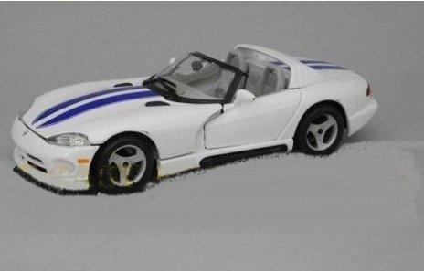 dodge-viper-rt-10-1992-white-w-blue-stripes-124-burago-auto-stradali-modello-modellino-die-cast