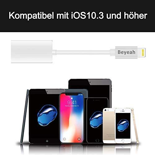 2 in 1 Lightning AUX Adapter iphone Adapter Splitte Kopfhörer Jack Adapter für iPhone Xs /Xs Max / iPhone XR /iPhone X / iPhone 8/8 Plus / iPhone 7/7 Plus. Kompatibel mit iOS 11/12 Oberhalb - 5