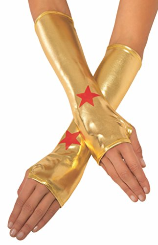 Official Adult's Dc Wonder Woman Gauntlets Gloves
