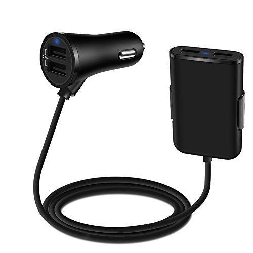 Galleria fotografica Myfei Portable qc3.0rapido caricatore da auto, 4porte USB Phone ricarica adattatore per iPhone iPad/PSP/iPod