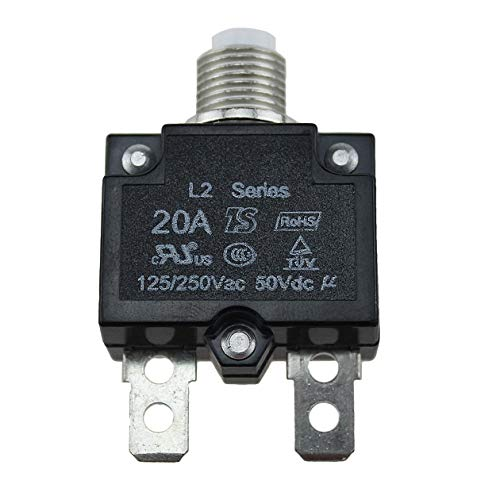 Heraihe Interruptor   10A   15A   20A   30A Circuito 5A Impermeable Push  Button reajustable a7236db3ba0c