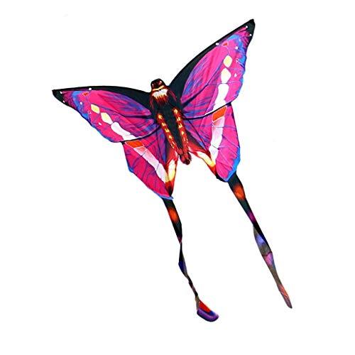 AYLS Drachen Erwachsene, Brise Leicht zu fliegen Outdoor Motion Spiel Drachen Kind Park Spielzeug Drachen Schmetterling Form Drachen, 137 * 180 cm,Pink