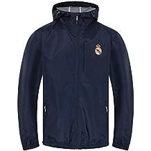 18ee319b82ee6 Real Madrid - Chaqueta Cortavientos Oficial - para Hombre - Impermeable