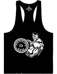 hasiding Homme Athletic Stringer Y arrière pour Tops