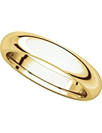 9ct Yellow Gold, Comfort Fit Wedding Band 4MM (sz H to Z5)