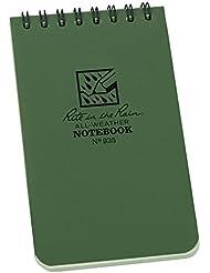Rite in the Rain Pocket Notebook - Set de mantenimiento para acampada, color verde, talla 3 x 5 Inch