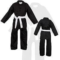 Norman Negro Niños Karate Traje Libre Blanco Cinturón Niños Karate Suit - 150 cm