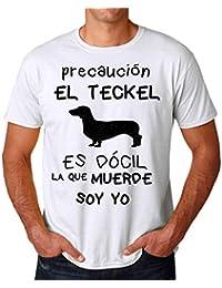 KRISSY Teckel Es Docil La Que Muerde Soy Yo Mens T-Shirt Hombre Camiseta
