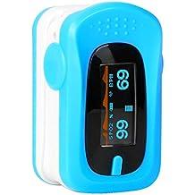 Oxímetro de Pulso Digitalcon Pantalla OLED SpO2Portátil Medidor de Oxígeno en Sangre y Pulsaciones Frecuencia Cardíaca Pulsioximetro de DedoPara Adultos y Ninos -Duomishu