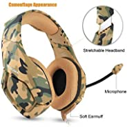 Gaming Headset Compatible PS4 New Xbox one PC Mac, ONIKUMA Over Ear 3.5mm Headphones with Mic Noise Isolating