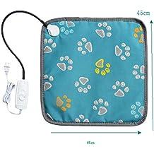 Vivianu - Almohadilla de calefacción eléctrica para mascotas, manta calentadora para perro, gato,