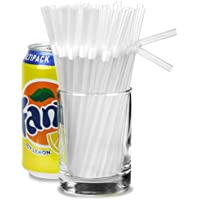 Small Bendy Straws 5.5inch Clear - Box of 250 | Short Drinking Straws, Cocktail Straws