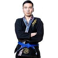 Tatami Fightwear Meerkatsu Dragon Fly BJJ Gi, Hombre, Color Negro, tamaño Talla A3