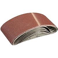 Silverline 363320 5 bandes abrasives 100 x 610 mm Grain 80