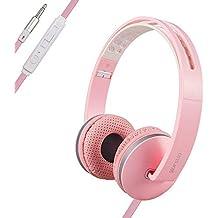 ONTA® Deporte Ligero Plegable Auriculares Cascos con Micrófono y Control De Volumen DE 3,