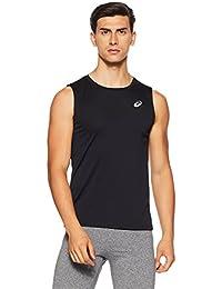 ASICS Men's Solid Regular Fit T-Shirt