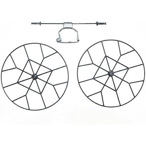 WayIn® Cheerson CX - 10 / CX - 10A Protección Repuesto Anillo Set: 2 + 4 Rueda grande Rueda Pequeño - Negro