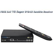 FREESAT V8 Super DVB-S2 Receiver Set Top box Support Powervu Biss Key 1080P HD DVB-S2 Satellite Receiver Support CCCAM Youporn