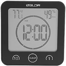 Badezimmeruhr Wasserdichte Dusche Uhr Timer Saugnapf Digital LCD Display  Thermometer Hygrometer Silent Wanduhr Timer Küche Badezimmer