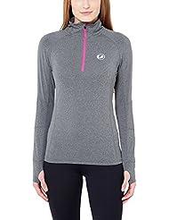 Ultrasport T-shirt de sport et de course fonctionnel à manches longues femme, très élastique
