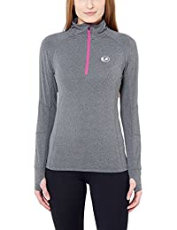 Ultrasport Women's Long-Sleeve Functional Running/Sports Shirt, highly stretchy