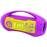 Soy Luna BTP100SL - Altavoz con Bluetooth, color rosa y amarillo