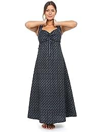 - Robe longue ethnique boheme chic hiver motifs noir gris Dilaya -