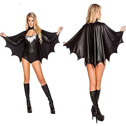 LAVINI COSPLAY-Adulto Halloween disfraces de adultos Batman vestir traje de mascarada mujeres atractivas