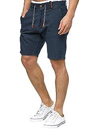 Indicode Herren Bowmanville Leinen-Shorts Kurze Hose aus Hochwertiger  Baumwollmischung 2a7f4022d2