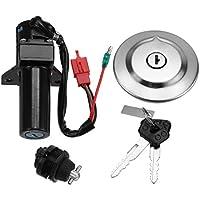 Casavidas Interruptor de encendido + Tapa de combustible + Llave para el modelo de inyección de combustible Yamaha YBR125