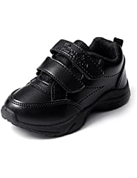 Liberty Black Velcro School Shoes