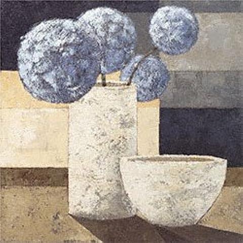 Eurographics KK1040, Karsten Kirchner, Le Bleu Clair, Stampa artistica di alta qualità, 70 x 70 cm