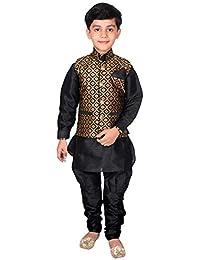 Desi Sarees Jungen Kurta Pyjama Weste Hochzeit Sherwani EB 945