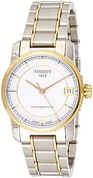 Tissot Women's White Dial Metal Band Watch - T087.207.55.117.00, Silver Band, Analog Dis