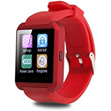 SMART Watch Fitness, Penvi Bluetooth Smart Watch Android et iOS système Smartphone Red