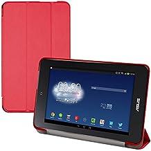 kwmobile Funda para Asus Memo Pad HD 7 - Smart Cover de cuero sintético para tablet - Case ultra delgada para tableta en rojo