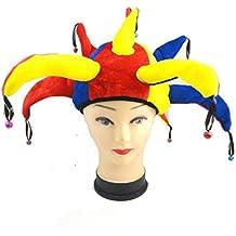 Gorro de bufón Medieval Payaso Jester Cap with Bells - Disfraz de Adulto  Carnaval y Halloween d5bf0f5c0ed6
